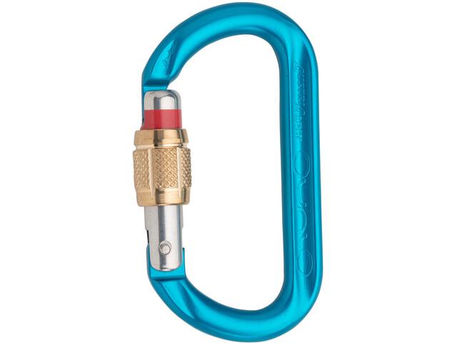 AustriAlpin Ovalo GI Mosquetón de cierre roscado, azul